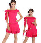 Women Latin Salsa Tango Rumba Cha Cha Ballroom Dance Dresses Mini Skirts