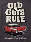 """OLD GUYS RULE 1957 CHEVROLET PUTTING THE """"CLASS"""" IN CLASSIC T SHIRT  NWT"""