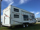 2007 SANDPIPER SPORT 28' TRAVEL TRAILER TOY HAULER SLEEPS 8+ BUNKS NO RESERVE !
