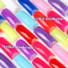 500pc Various Colorful French False Acrylic UV Nail Art Tips Tools Box