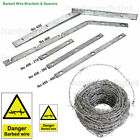 Barbed Wire Fencing Brackets & Spacers For Barbed Wire Razor Wire GALVANIZED