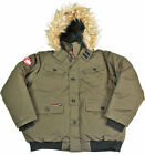 Canada Weather Gear Men&#039;s Faux Goose Down Bomber Jacket Coat <br/> Faux Goose Down Lined + Water Resistant Material $215
