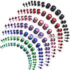 Colorful Acrylic O-Ring Ear Tunnel Plugs Expander Stretcher Body Piercing Gauges