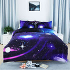 Moon&Stars Quilt Duvet Cover Set Double/Queen/King Size Bed Doona Covers Set New