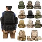 55L Outdoor Molle Military Tactical Bag Camping Hiking Trekking Backpack Bag