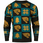 NFL UGLY SWEATER Pullover Christmas Style JACKSONVILLE JAGUARS Patches Football