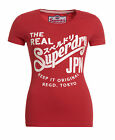 New Womens Superdry Keep It Entry T-Shirt Indiana Red