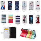 Cartoon Painting Leather Folio Flip stand Cover Case For Various Phones 05 C