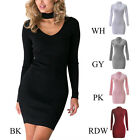 1PC Women Lady Knitted Dress Casual Party Vestidos Bodycon Dress Sweater Dresses