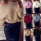 Women Oversized Knitted Sweater Batwing Tops Cardigan Loose Outwear Coats S0BZ