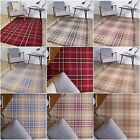 100% Wool Tartan Vintage Traditional Design Thick Living Room Area Floor Rug Mat