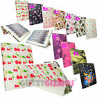 COLOURFUL BRIGHT FLOWER PRINTED DESIGN LEATHER FLIP CASE FOR VARIOUS TABLETS