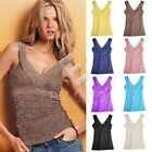 Fashion Women Lace V-neck Camisole Sleeveless Hollowed Tank Top Vest YBZA153