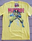 NWT Youth Marvel Comics Wolverine Yellow T Shirt Various Sizes