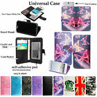 Universal Luxury Premium Leather Wallet Flip Case Cover For New Mobile Phones