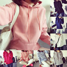 Korean Women's Hoodie Sweatshirt Casual Hooded Coat Pullover Loose Tops Sweats