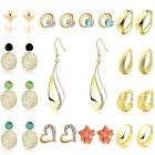 Women Jewelry New Fashion Personality Real Gold Filled Modish Silver Earrings