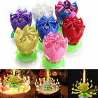 Lotus Candle Birthday Flower Musical Rotating Floral Cake Candles Music Magic