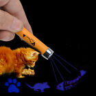 Interactive led Training Funny Cat Play Toy Laser Pointer Pen Mouse Animation US