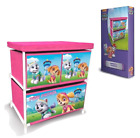 Paw Patrol Childrens Kids 3 Drawer Toys & Games Storage Cabinet Box Furniture