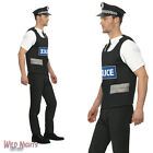 "FANCY DRESS COSTUME # MENS POLICEMAN INSTANT COP DRESS UP KIT SIZE 38""-44"""