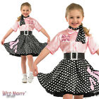 GIRLS ROCK N ROLL 1950'S DANCE FANCY DRESS COSTUME