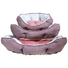Charles Bentley Striped Pink Soft Dog Bed MACHINE WASHABLE Available in 3 Sizes