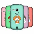 HEAD CASE DESIGNS HAPPY PUPPIES HARD BACK CASE FOR SAMSUNG GALAXY YOUNG S6310
