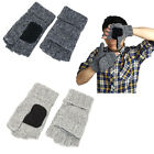 Fashion Warm winter Men Crochet Knitted Fingerless Gloves with Mitten Cover New