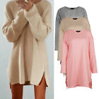 ISASSY Womens Ladies Side Zipped Long Sleeve Pullover Jumper Warm Mini Dress