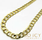 """22-30"""" 7mm 10k Yellow REAL Gold Miami Cuban Curb Hip Hop Chain Necklace Mens"""