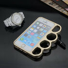 Luxury Metal Knuckle Design Finger Rings Protective Case for iPhone 6S Plus 5S 7