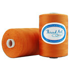 100% COTTON THREAD ALL PURPOSE SEWING LONG STAPLE 1000M SPOOLS 40 COLORS 50/3