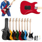 Glarry ST Burning Fire 22 Frets Basswood Beginner Electric Guitar w/ Accessories