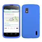 For LG Google Nexus 4 Silicone Skin Rubber Soft Case Phone Cover <br/> IN-STOCK - FREE SHIPPING FROM THE USA - BEST SELLER!