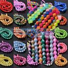 NEW 4mm 6mm 8mm Bicone Faceted Lacquer Loose Spacer Glass Colorful Beads Bulk