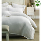 100% Cotton Paris Waffle White on White Quilt Cover Set - QUEEN KING Super King