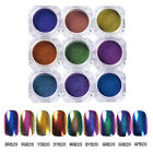 0.5G/box Top-Grade Chameleon Nail Art Powder Chrome Pigment Glitters Decor Tips