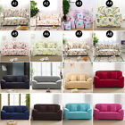 Pure Color Flower Pattern Stretch Elastic Sofa Slip Cover Protector 1 2 3 Seater