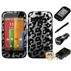 For Motorola Moto G Hybrid TUFF IMPACT Phone Case Hard Rugged Cover Charger