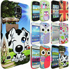 CUTE CARTOON ANIMAL PRINTED SILICONE RUBBER GEL CASE COVER FOR VARIOUS PHONES