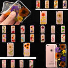 Dried Natural Flowers Cover For iPhone Samsung Real Pressed Floral Soft TPU Case