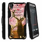 For HTC Desire 630 Heavy Duty Protective Case Holster Belt Clip + Kickstand