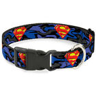 Superman DC Comics Superhero Blue Camouflage Clip Fun Animal Pet Dog Cat Collar