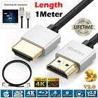 Ultra Slim HDMI Lead For Laptop to TV Cable High Quality 4K 2160p 3D Video Lead