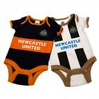 Newcastle United 2 Pack Bodysuits Vests 2016-17 Season 0-3 to 12-18 months