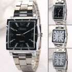 Square Sport Watch Men's Fashion Stainless Steel Analog Quartz Wrist Watch