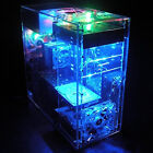 DIY Clear Acrylic Computer Chassis Desktop Case Box For Liquid Cooling System