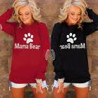 2017 Mama Bear Fashion Women Long Sleeve Hoodies Sweatshirt Hoody Coat Pullover