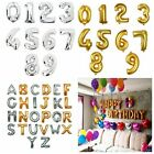 16 inch Silver Gold Foil Letter Number Balloons Alphabet Birthday Wedding Party